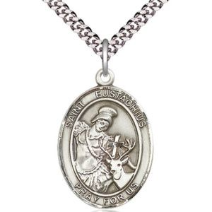 Sterling Silver St Eustachius Pendant